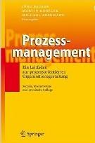 Cover Prozessmanagement. Ein Leitfaden zur prozessorientierten Organisationsgestaltung